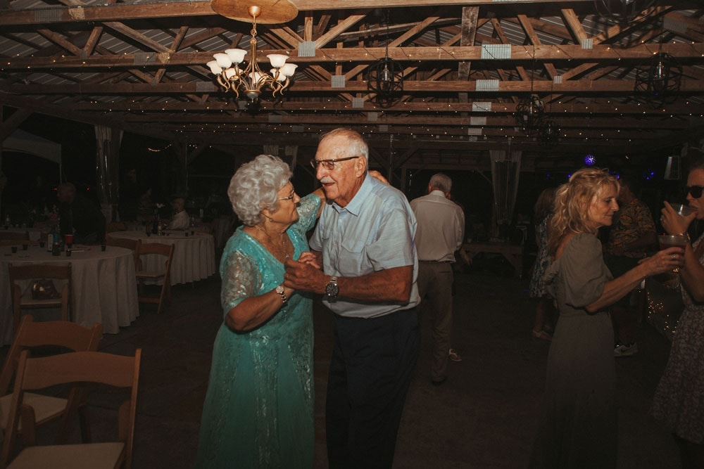couple dancing at wedding reception