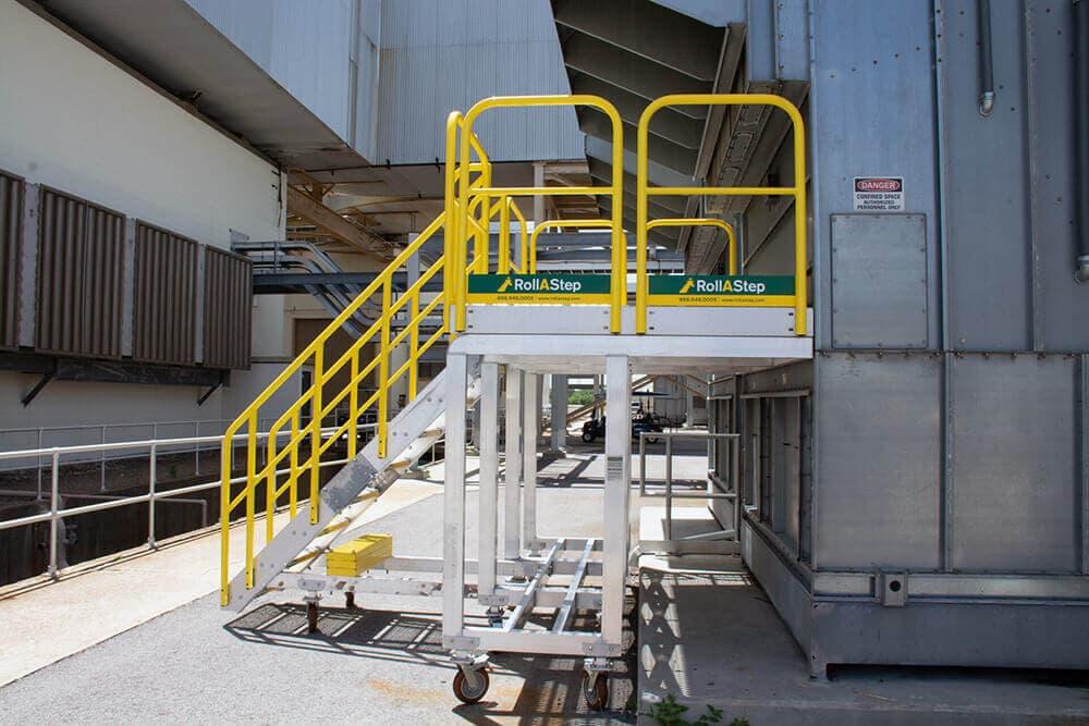 Rolling Metal Stair Platform For Duke Energy