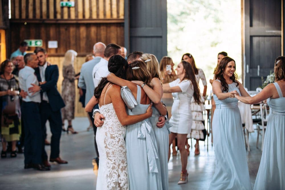 Dove Barn Wedding in Knutsford Party in the Barn