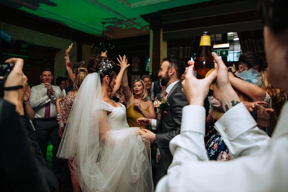 Inglewood Manor evening wedding reception