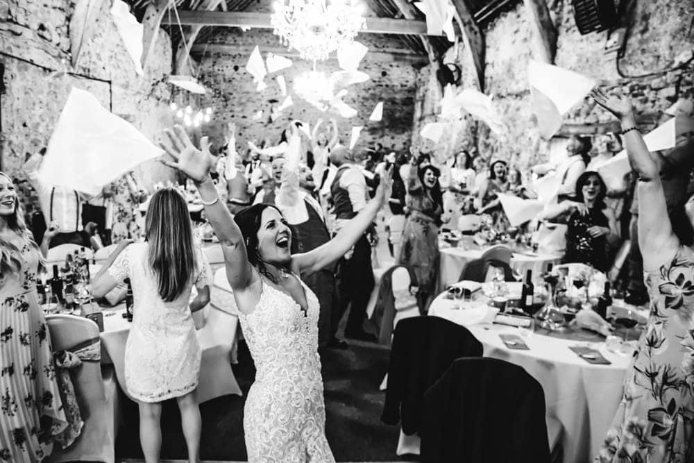 Park House Barn Wedding Party enjoying the dancefloor