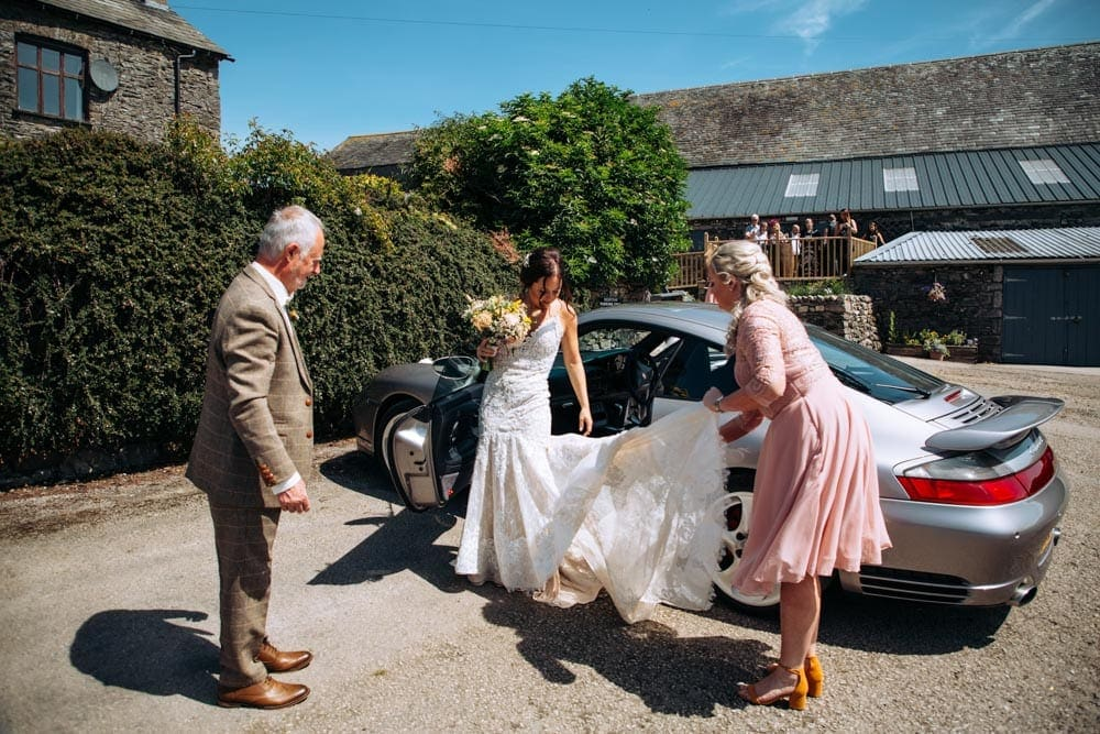 Bride Arriving at Park House Barn
