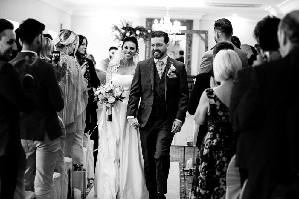 etop grange wedding aisle