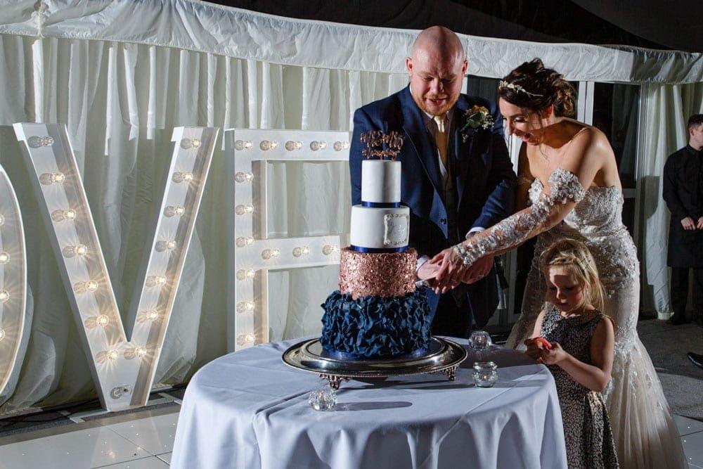 cake cut at soughton hall
