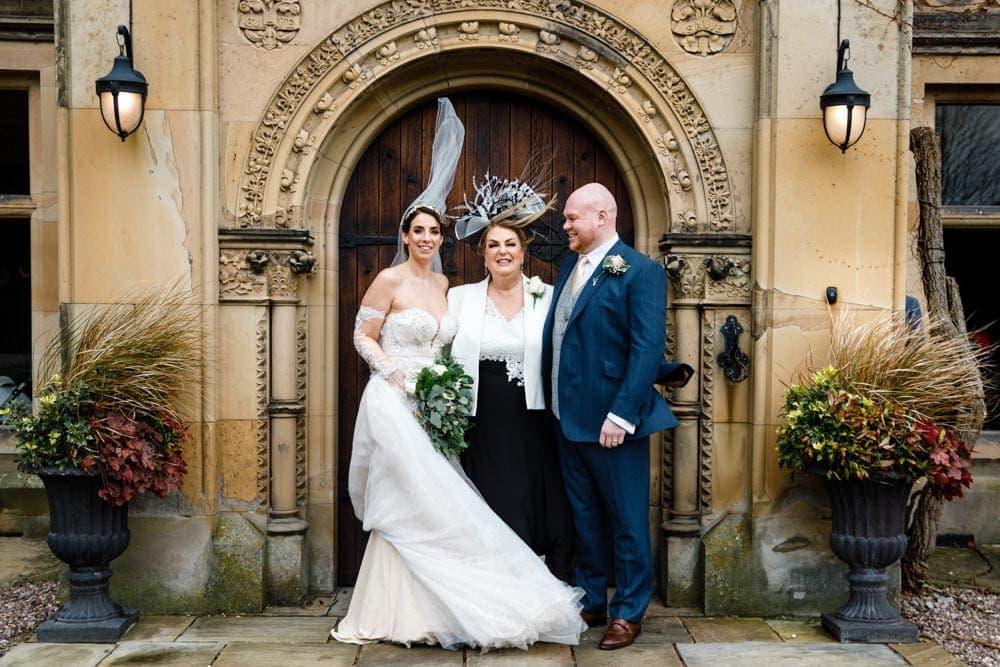 windy wedding at soughton hall