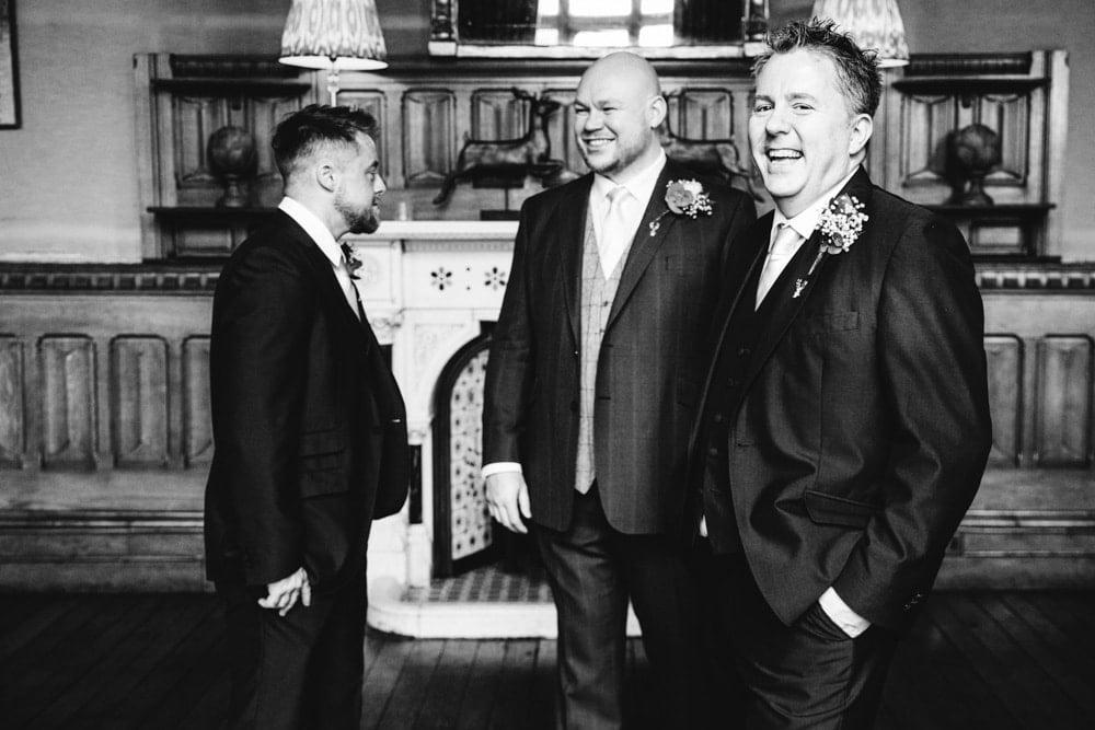 groomsmen having photos