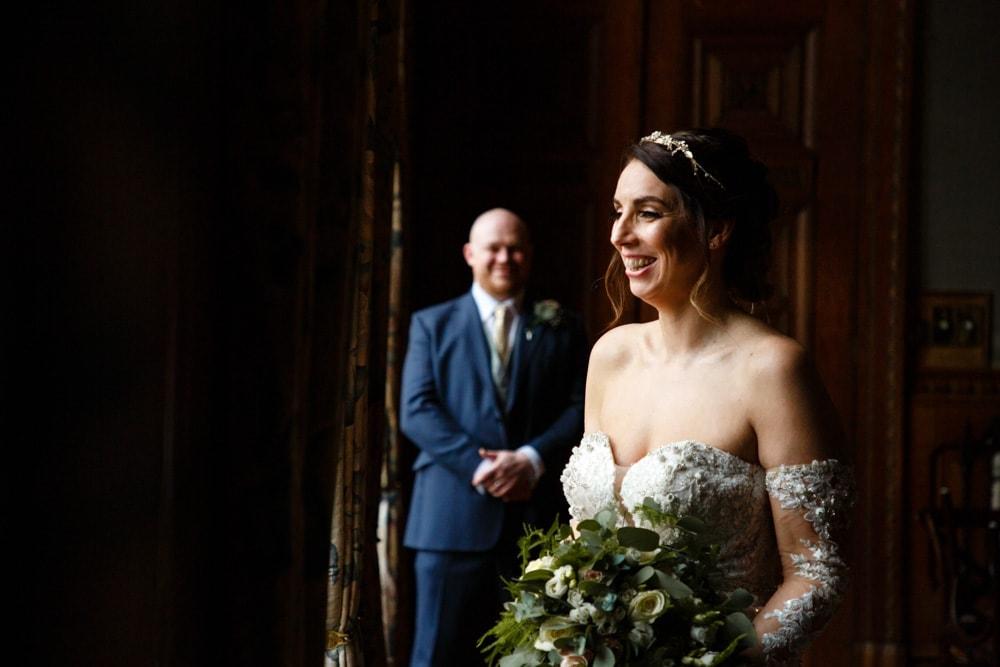 wedding moment at soughton hall
