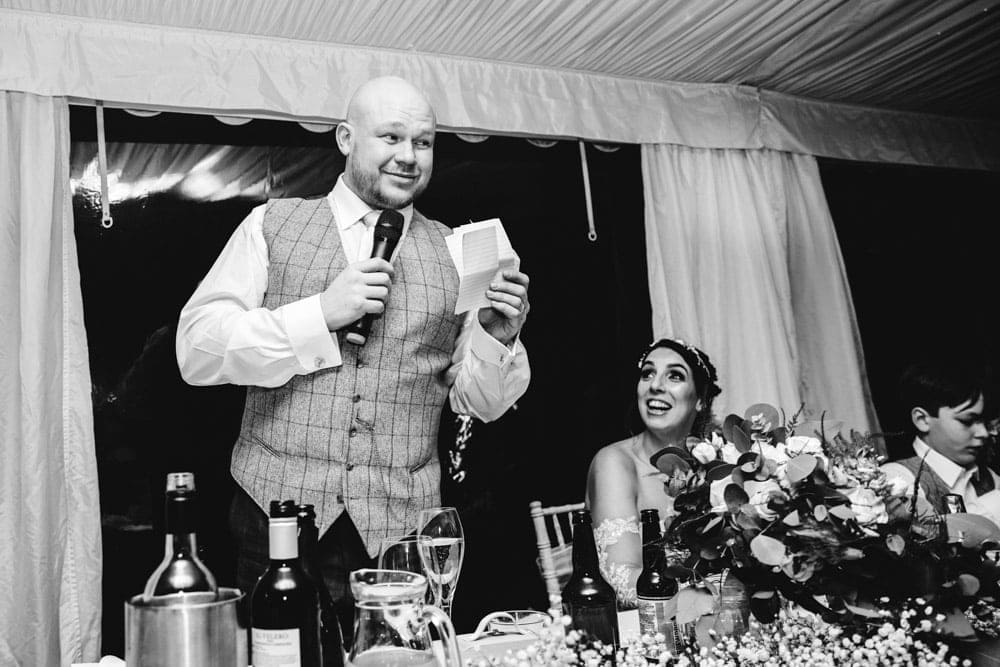 grooms speech at soughton hall