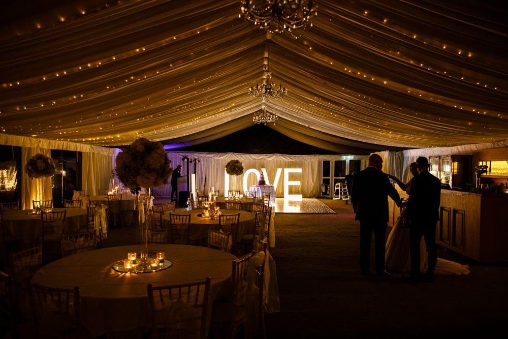 evening reception at soughton hall