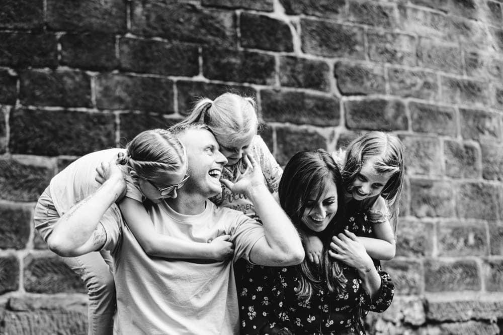 family enjoying worsley