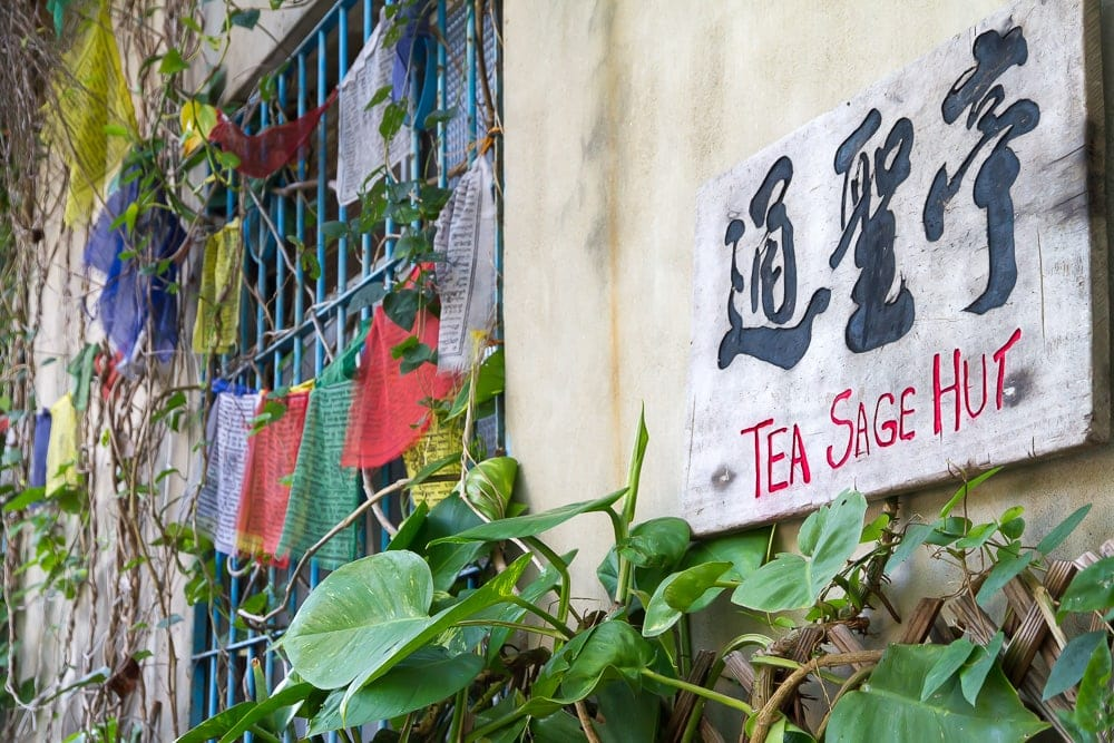 Tea Sage Hut sign