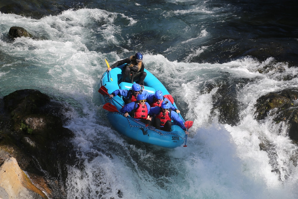 Whitewater rafting over Husam FAlls with zollers outdoor odysseys