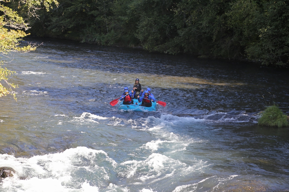 Paddling down the White Salmon River