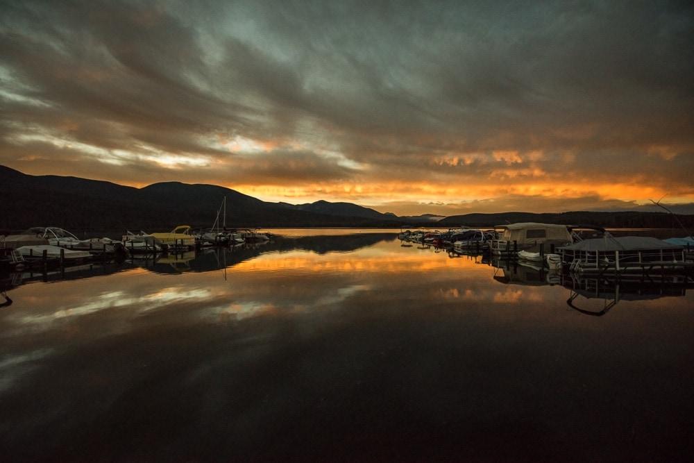 Sunrise at the Marina on Grand Lake