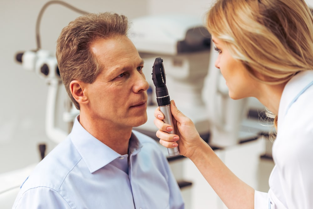 Eye test at the ophthalmologist