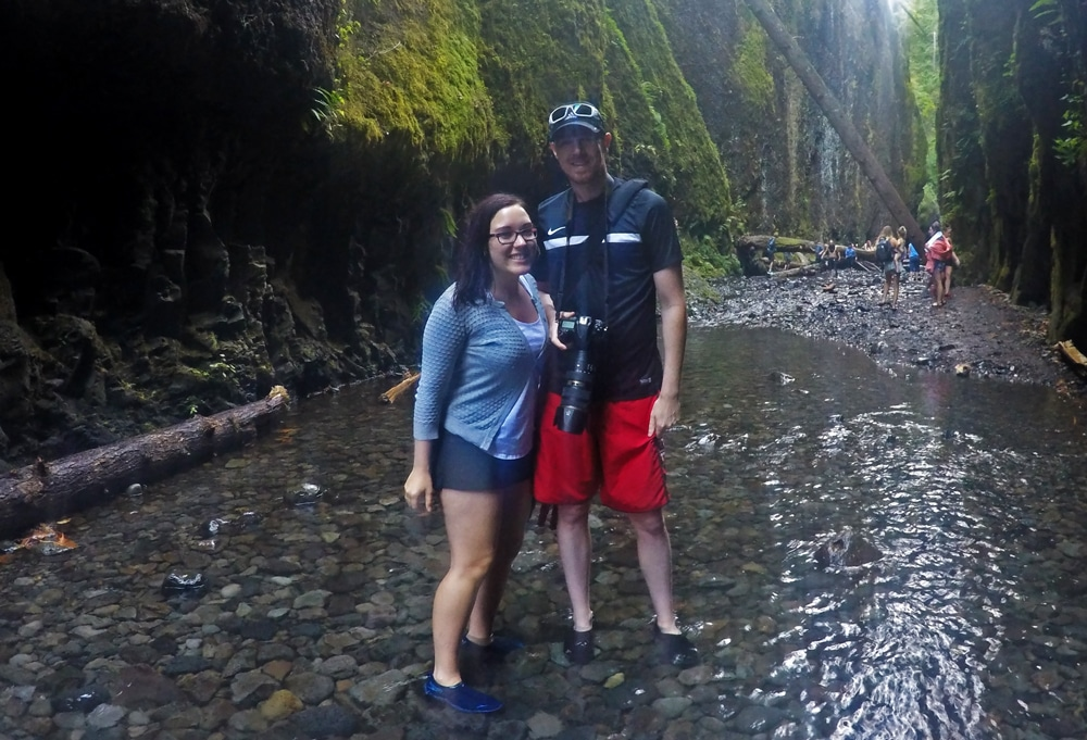 Brooke and Buddy in the oneonta gorge