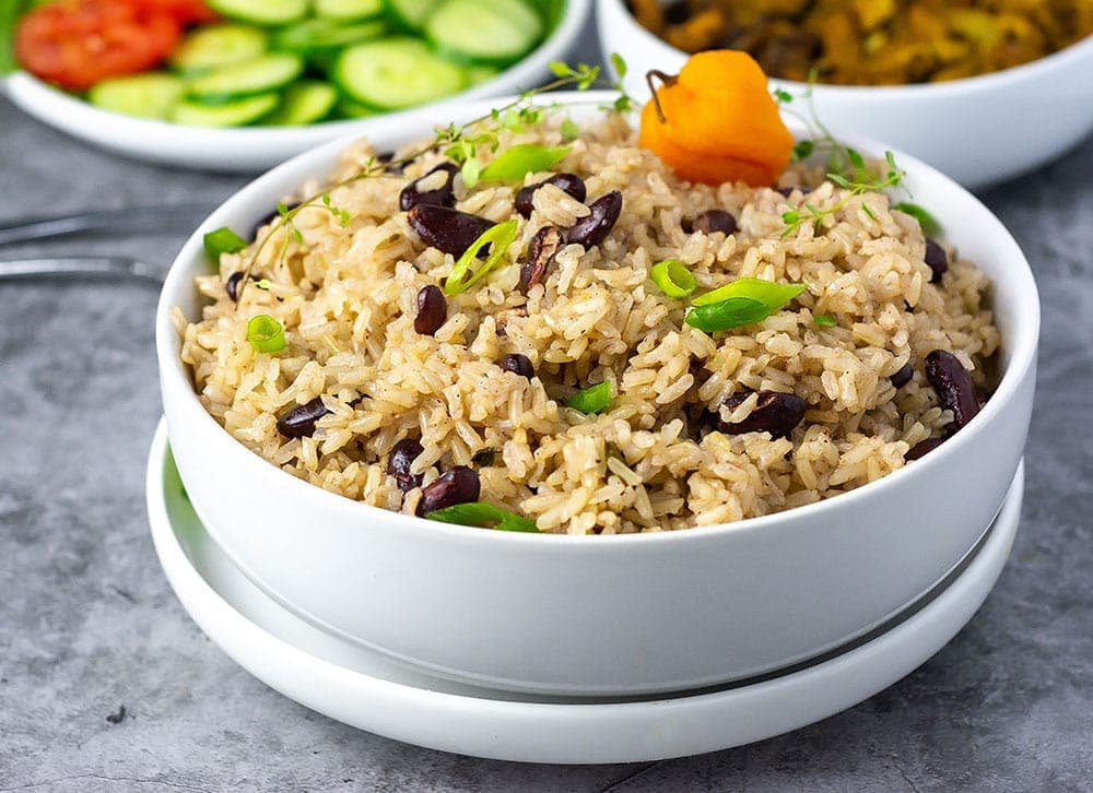Jamaican Rice And Peas With Coconut Milk