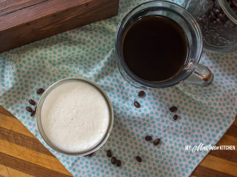 Sugar Free Coffee Creamer (Low Carb, THM-FP) #trimhealthymama #thm #thmfp #lowcarb #sugarfree #keto #protein #glutenfree #coffeecreamer