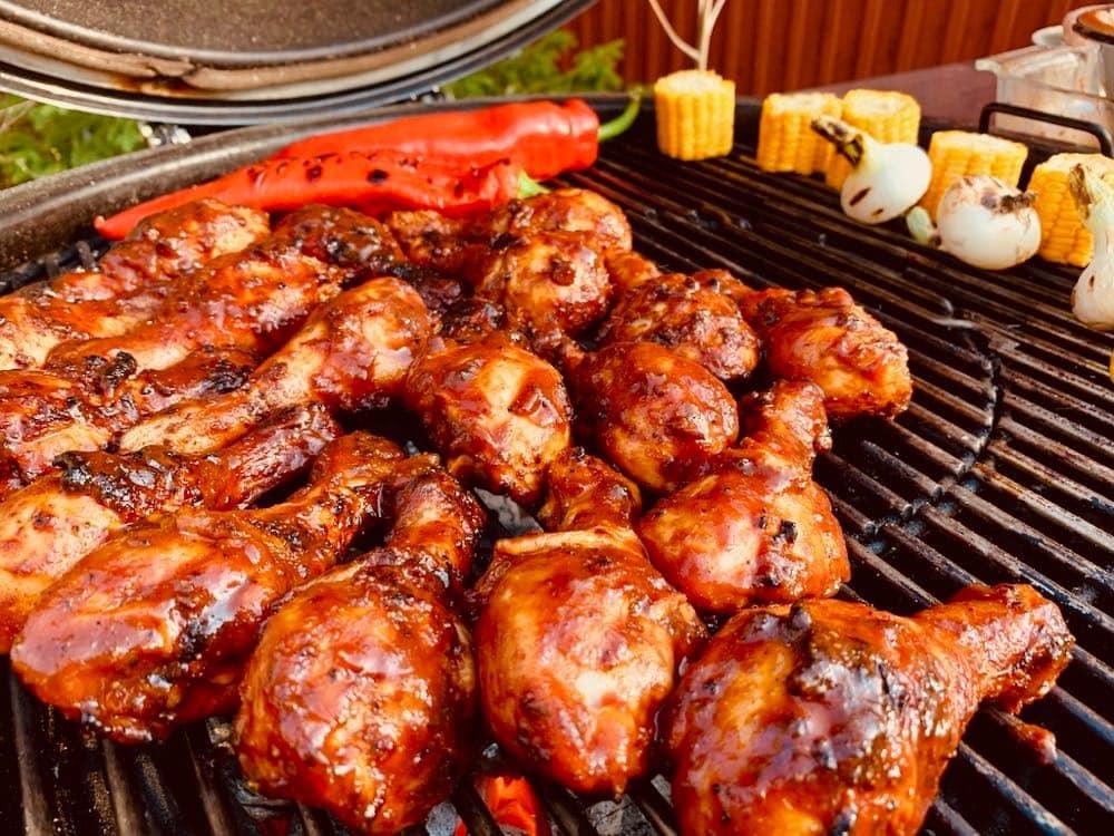 BBQ kycklingklubbor