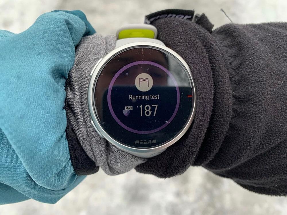Running test в Polar Vantage V2.