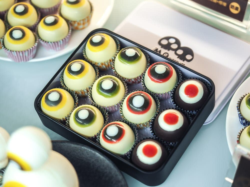 Eyeball chocolates from MO Chocolate Shop, Xitou Monster Village.