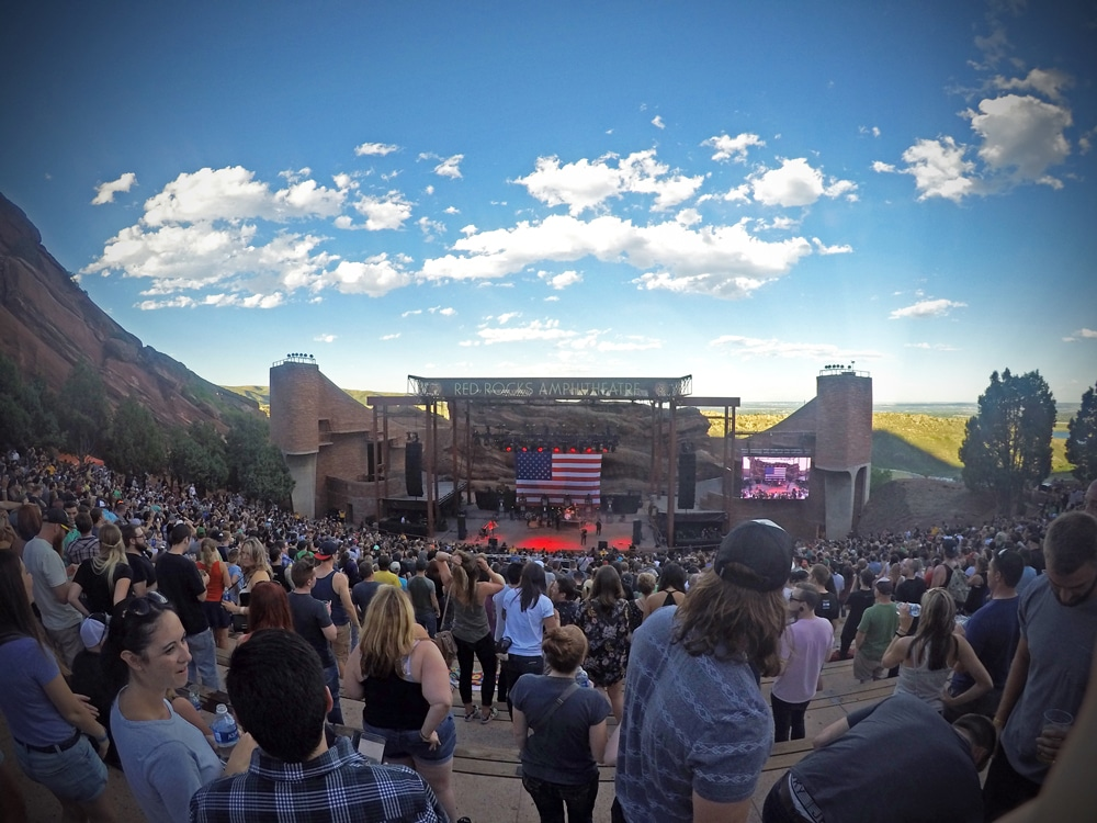 Red Rocks Amphitheater Movie night