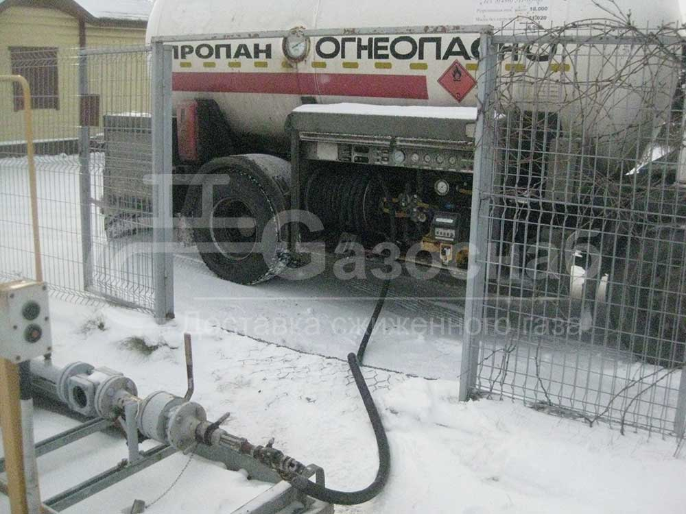Цена заправки газгольдера в Ярославской области и Ярославле «ГАЗОСНАБ» 3