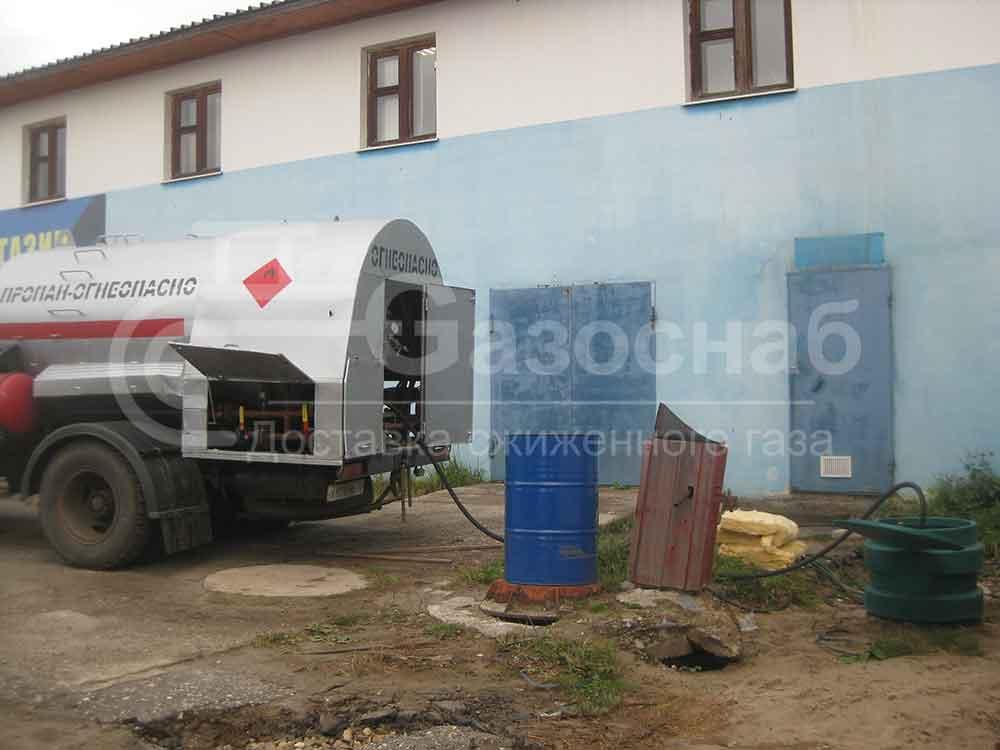 Цена в Ярославской области на заправку газгольдера газом «ГАЗОСНАБ» 1