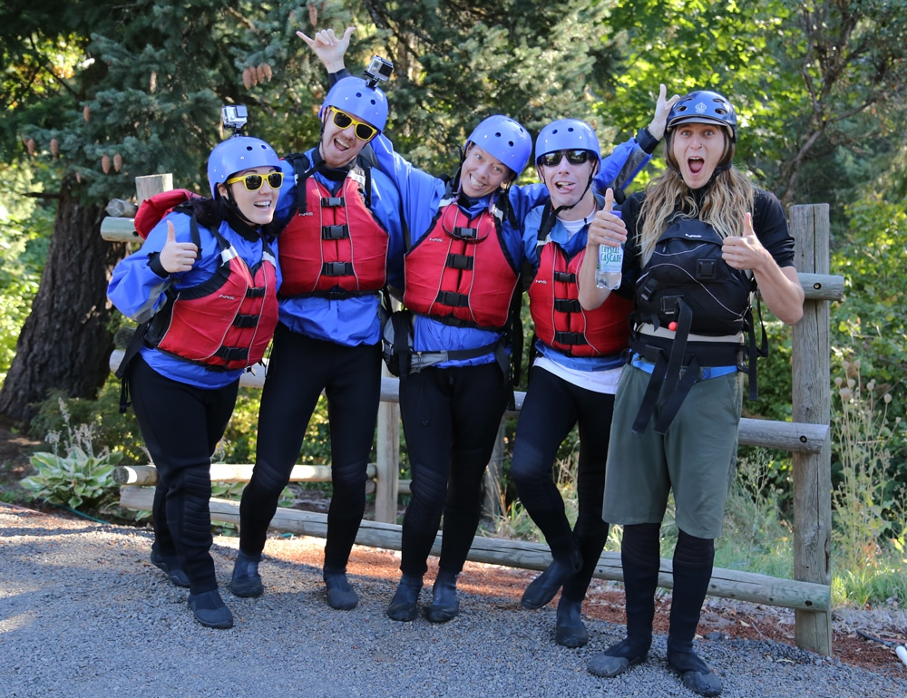 Our raft crew with our guide taking a fun 'before' photo