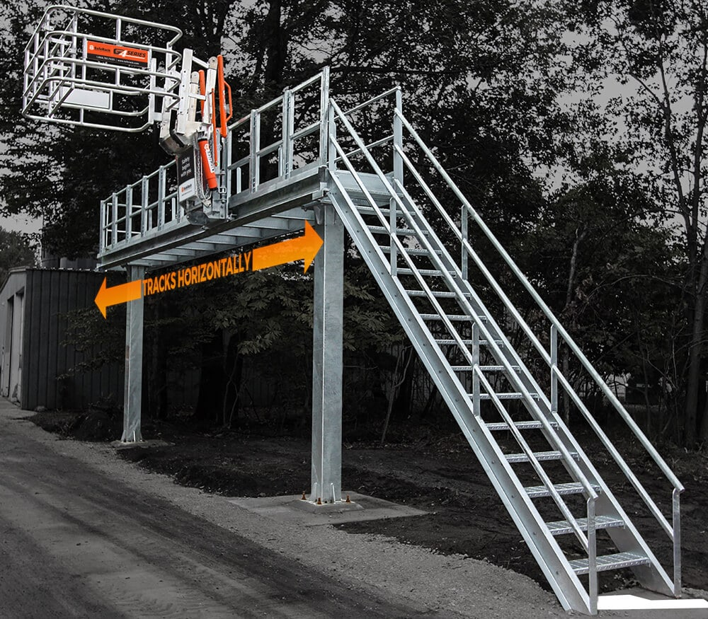 Single Truck Track Mounted Loading Gangway
