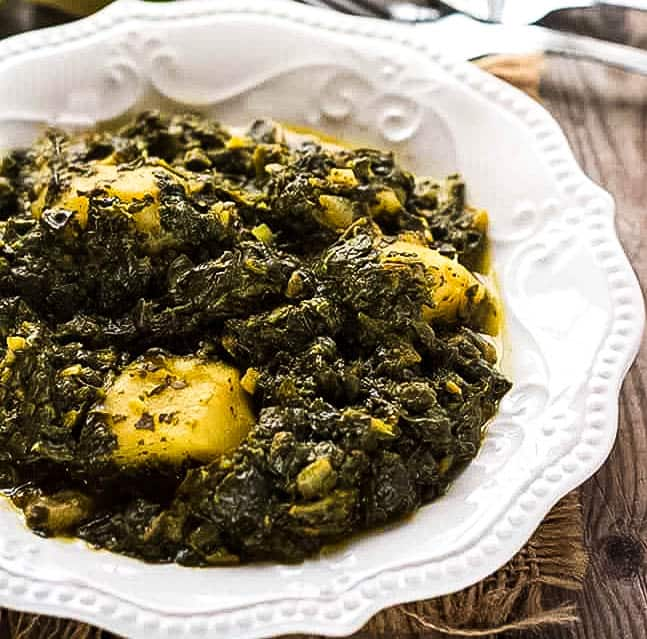 Best Aloo Palak Potato Spinach