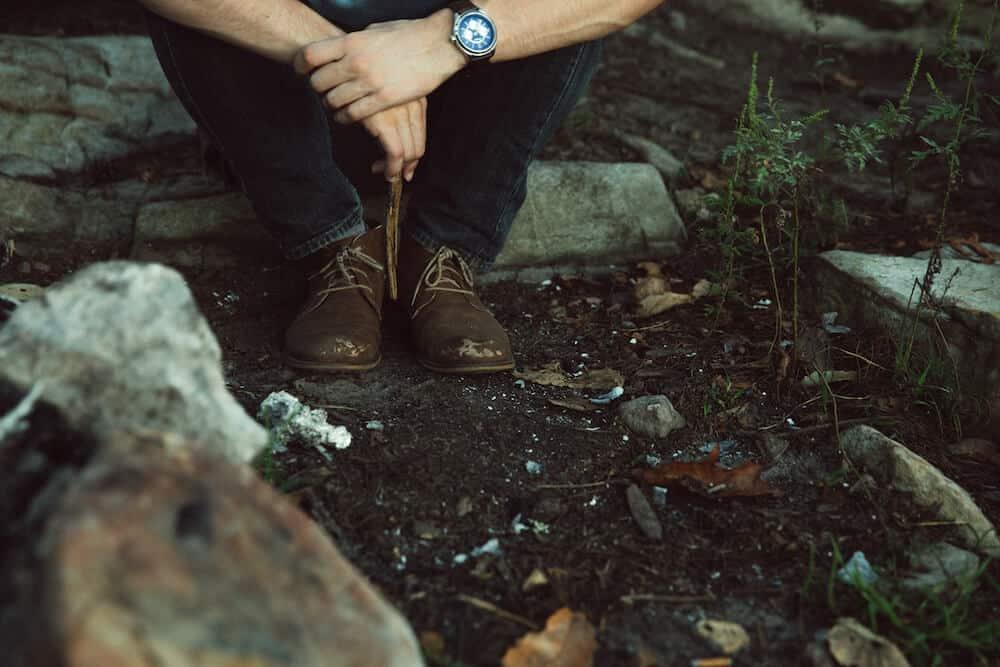 Hiking boot materials