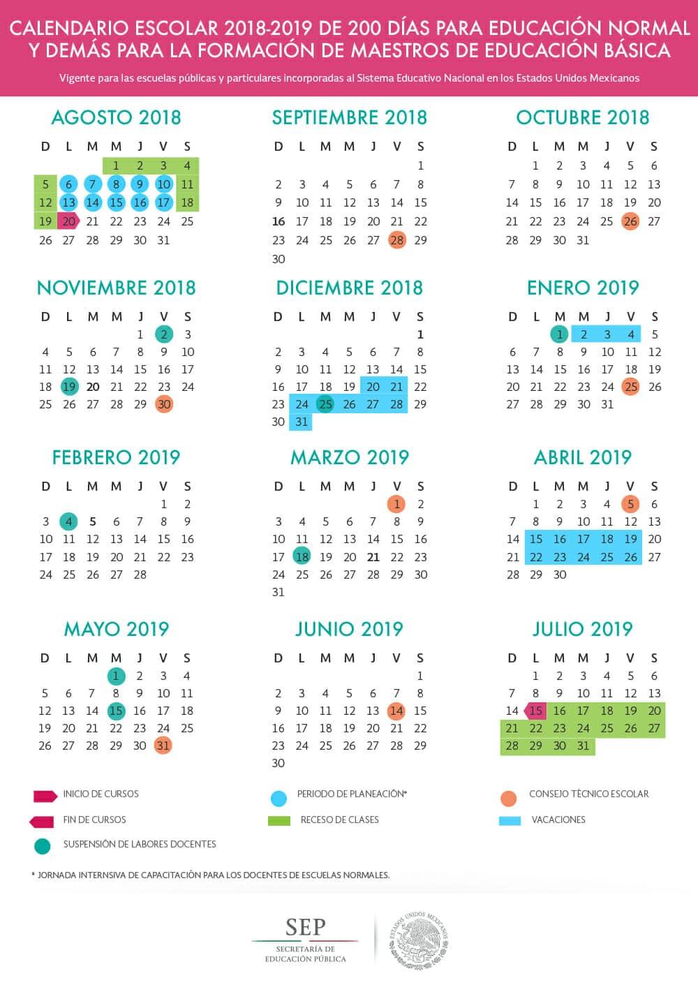 Calendario Vacaciones.Vacaciones 2019 Mexico Planea Tus Vacaciones Ahora