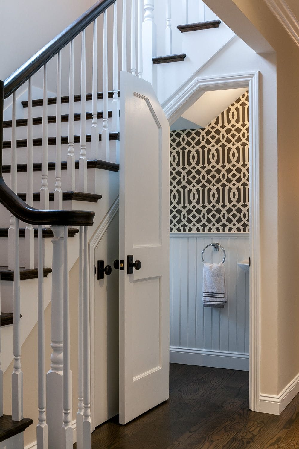 Inviting Toilet Under The Staircase