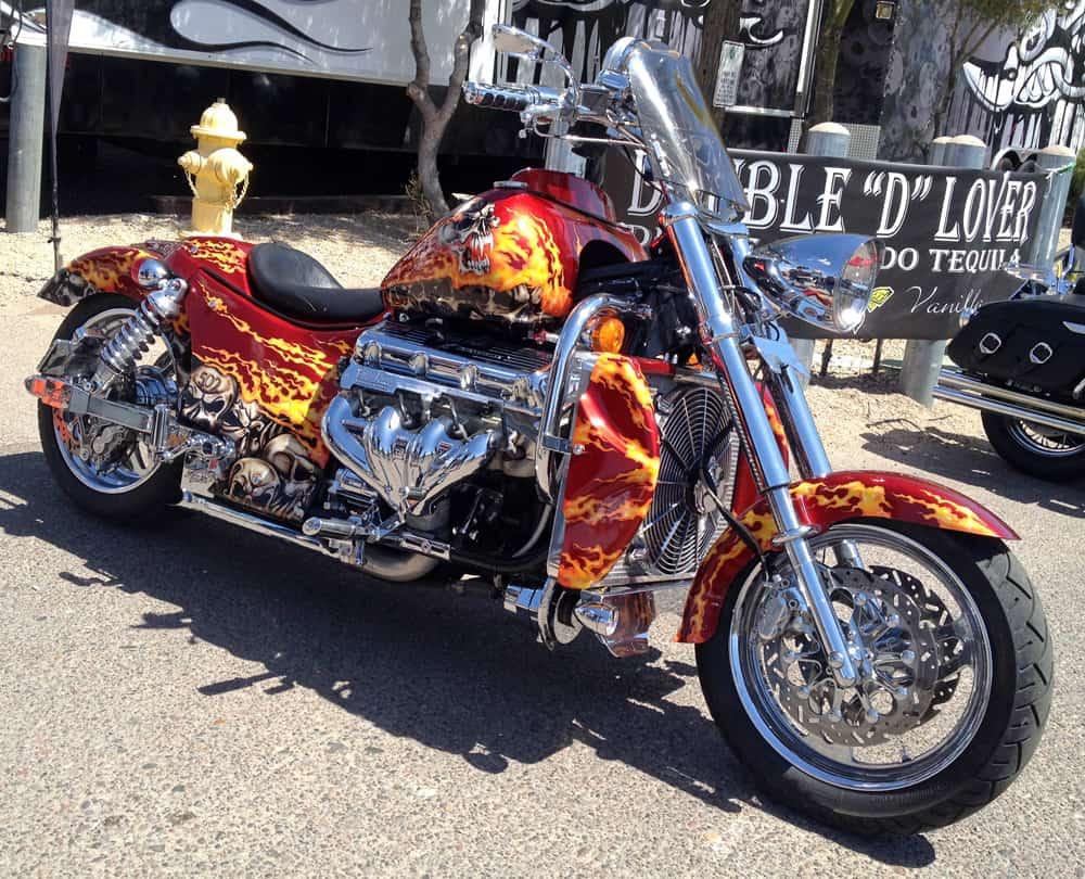 Boss Hoss V8 Bike at AZ Bike Week, Cave Creek, AZ 2014