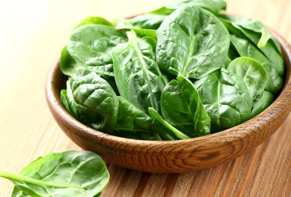 Spinach, a treatment for anemia during pregnancy