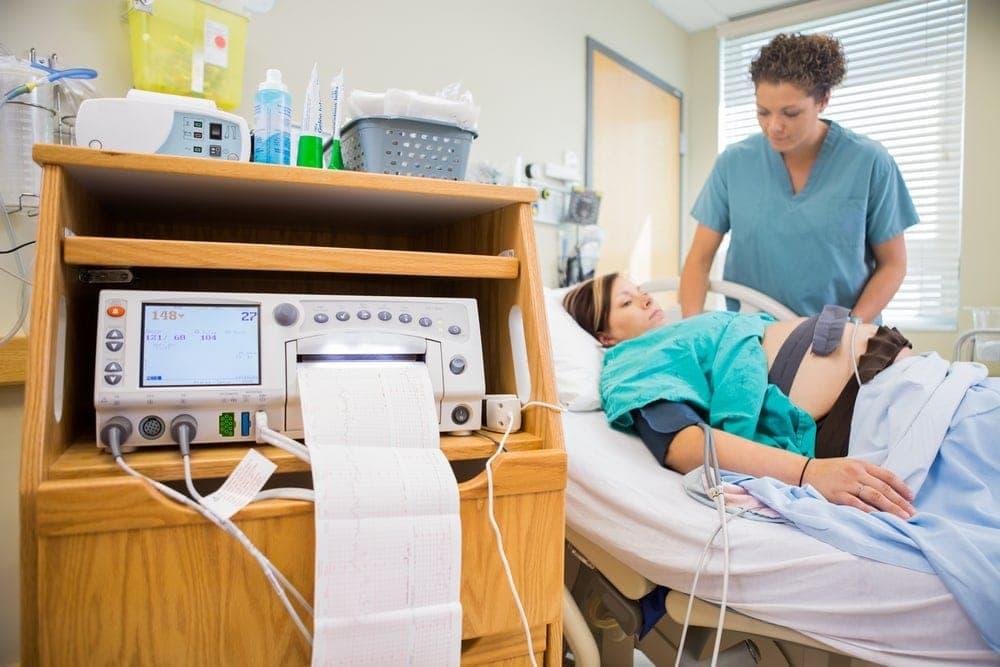 Image of Doctor monitoring fetal distress