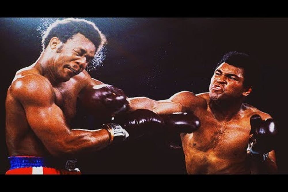 Muhammad Ali and George Foreman fight