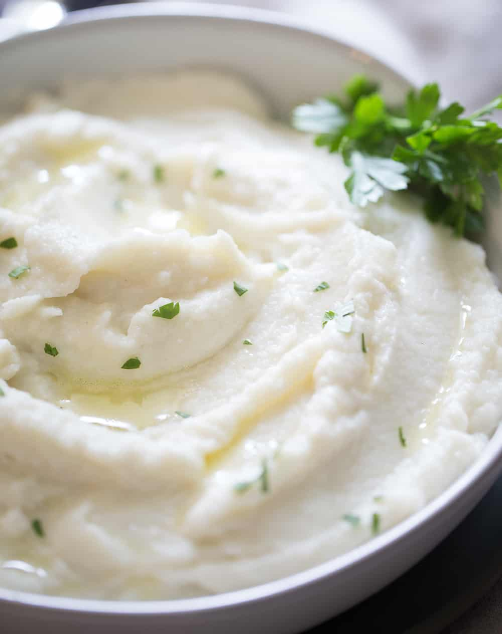 Close up of instant pot mashed potatoes