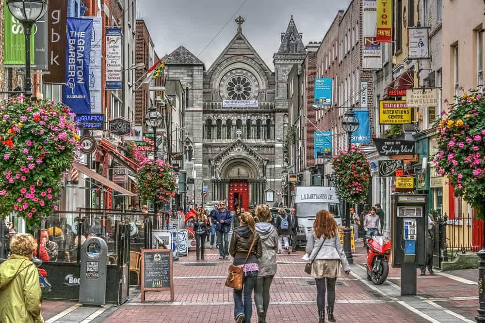 Grafton Street Mall Dublin