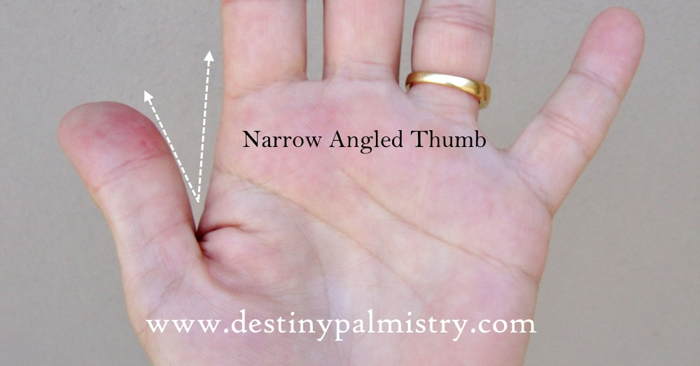 narrow angled thumb meaning in palmistry