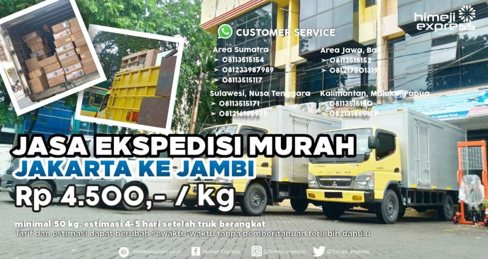 Jasa Ekspedisi Jakarta ke Jambi