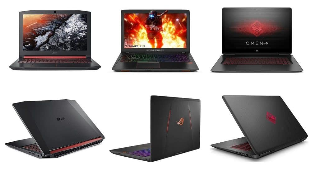 types of good gaming laptops