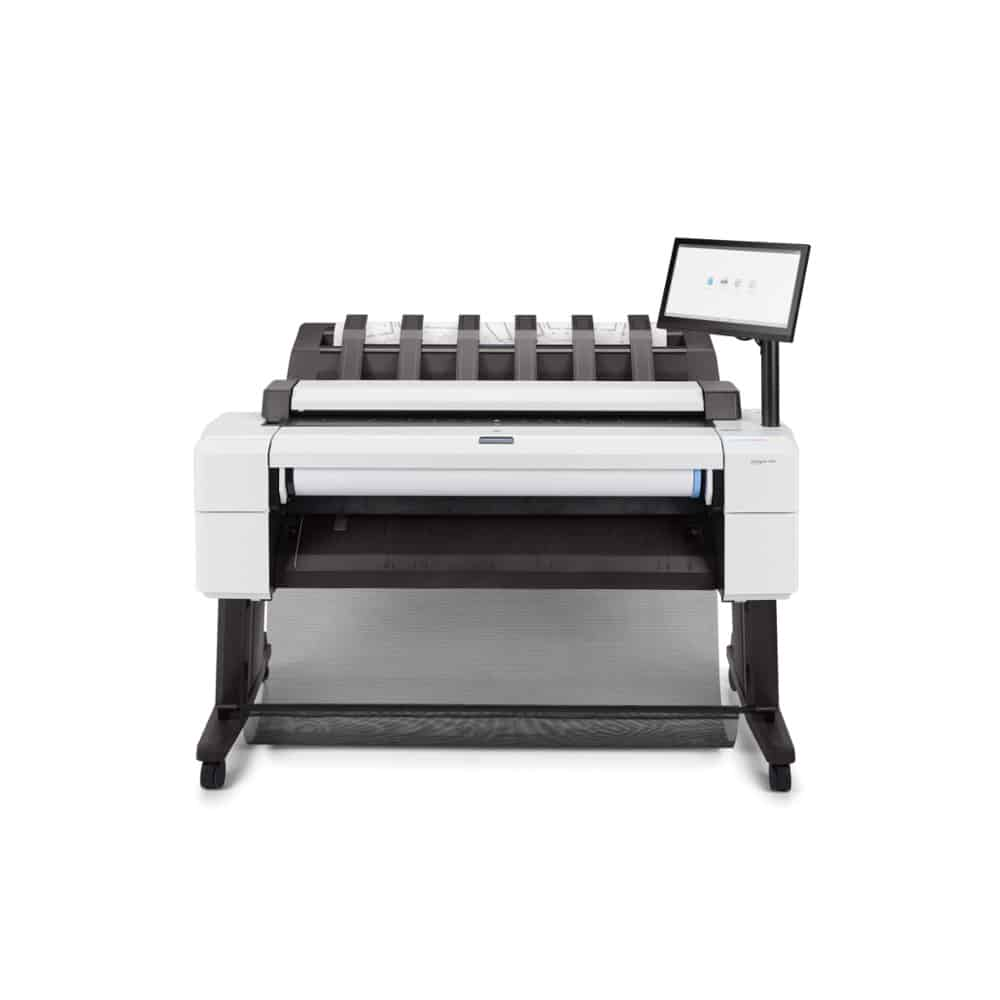 HP DesignJet T2600 Dual Roll PostScript 36-Inch Multifunction Printer Front