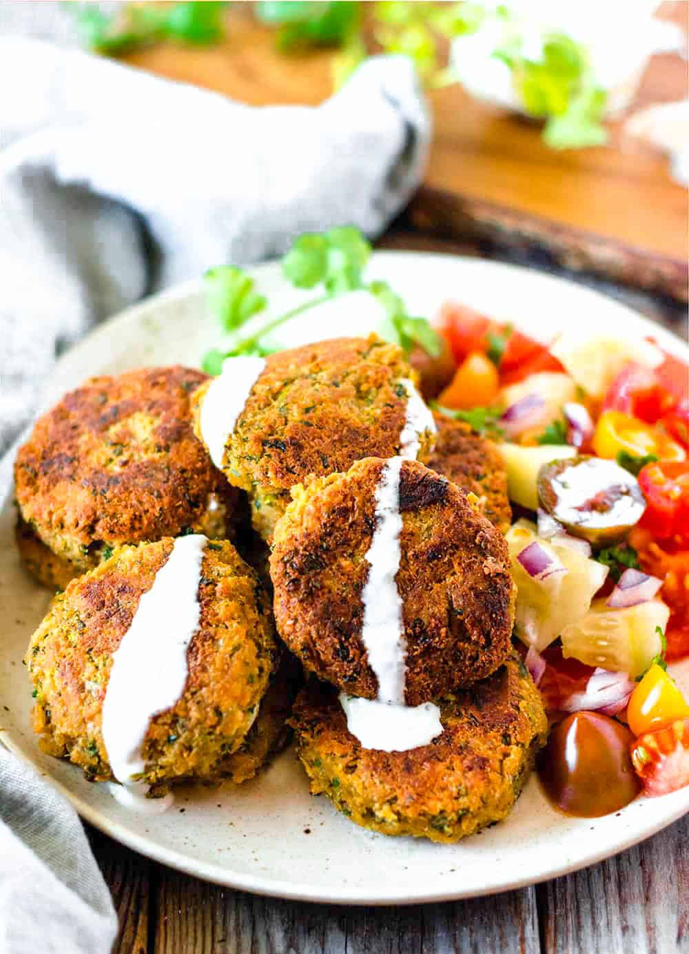 what is falafel mix made of