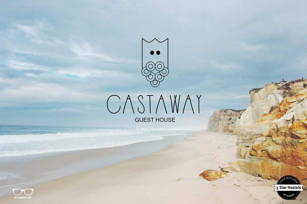Light colors - the logo of Castaway Guesthouse