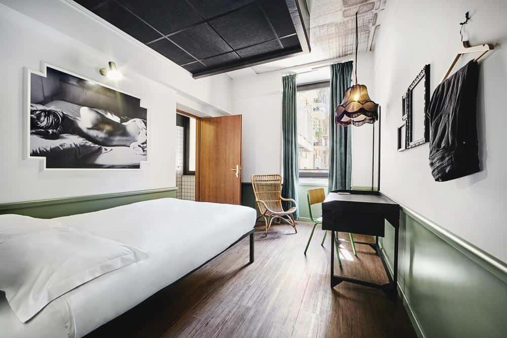 A modern private room at Generator Hostel