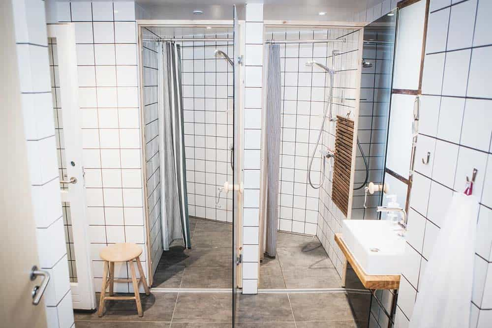 Shared facilities at a hostel in Copenhagen