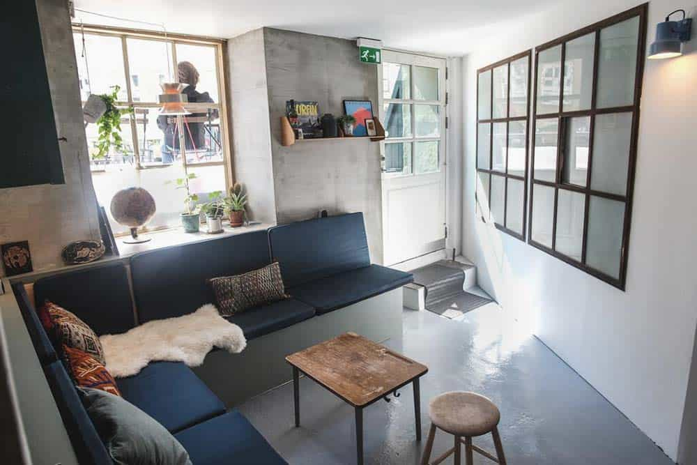 Common room at Woodah hostel Copenhagen