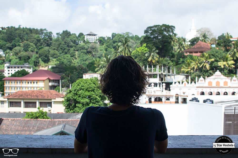 Views from the rooftop terrace in Clock Inn Kandy